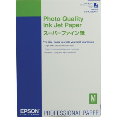 Epson S041079 Photo Quality - Matte - coated - A2 (16.5 in x 23.4 in) - 100 g/m² - 30 sheet(s) paper - for Stylus Pro 38XX  Pro 7800  Pro 9800  SureColor P800