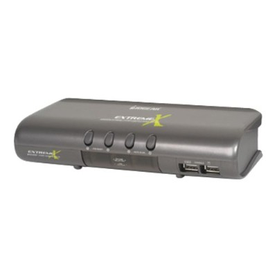 Iogear GCS1734 4 port MiniView Extreme Multimedia KVMP Switch with USB & PS/2 Cables