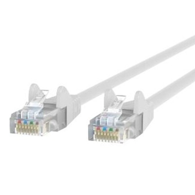 Belkin A3L791-10-WHT-S Patch cable - RJ-45 (M) to RJ-45 (M) - 10 ft - CAT 5e - molded  snagless - white - B2B - for Omniview SMB 1x16  SMB 1x8  OmniView SMB CAT