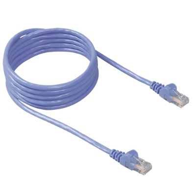 Belkin A3L791-30-BLU-S Patch cable - RJ-45 (M) to RJ-45 (M) - 30 ft - UTP - CAT 5e - booted  snagless - blue - for Omniview SMB 1x16  SMB 1x8  OmniView IP 5000H