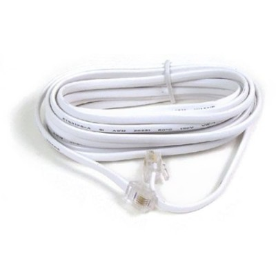 Modular Patch Cord RJ11 50&#039; White
