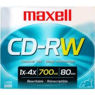 Maxell 630010 4x CD-RW 700MB/80Min in Jewel Case