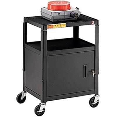 Bretford Manufacturing Ca2642e Adjustable Cabinet Cart Ca2642e - Cart For Tv  Overhead Projector  Vcr - Steel - Black - Screen Size: 13 - 20