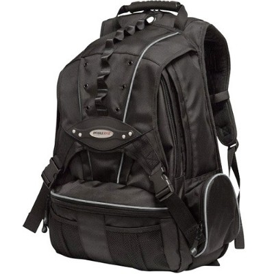 Mobile Edge MEBPP1 Premium Backpack - Black with Silver Trim