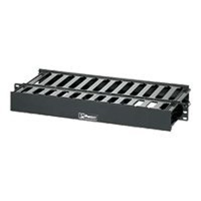 Panduit WMPSE PatchLink Horizontal Cable Manager - Cable management panel - black - 1U - 19