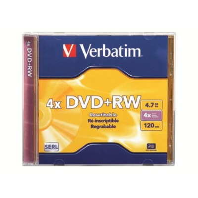 Verbatim 94520 DataLifePlus 4.7GB 4x Speed DVD+RW with Jewel Case