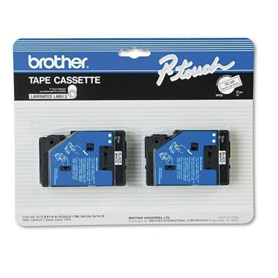 Brother TC20 2pk 1/2 Black on White
