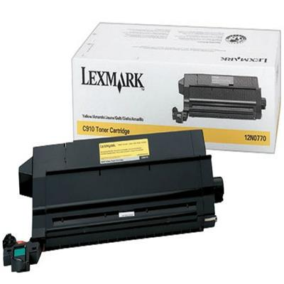 Lexmark 12N0770 Yellow Toner Cartridge for C910/C912
