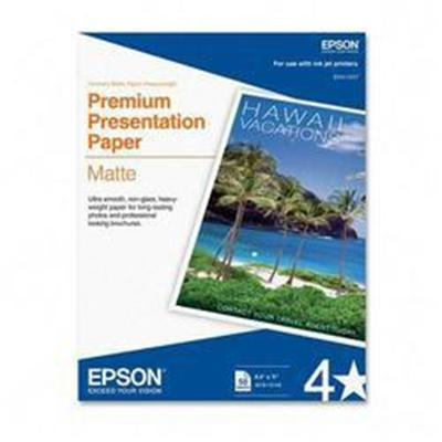 Epson S041568 8.5 x 11 Premium Presentation Paper Matte  Double-sided - 50 Sheets