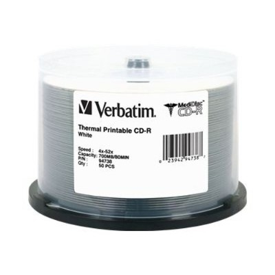 Verbatim 94738 50Pack CD-R MediDisc 80Min. 700MB - Storage media
