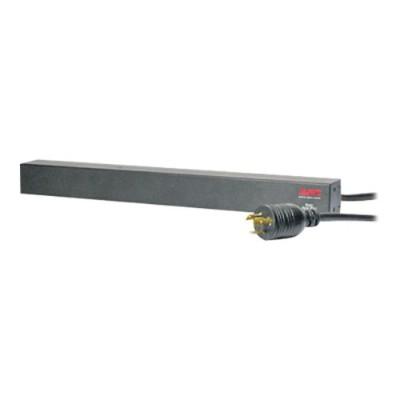 "APC Basic Rack-Mount PDU - Power distribution strip (rack-mountable) - AC 208 V - input: NEMA L6-20 - output connectors: 12 (IEC 60320 C13) - 1U - 19"" - 12 ft - Canada  United"