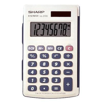 Sharp El243sb 8 Digit Handheld Calculator