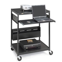 Bretford Manufacturing Ecils1ff-bk Interactive Learning Center Ecils1ff-bk - Cart For Projector ( Rack ) - Steel - Black - Screen Size: Up To 25 - Floor-standin