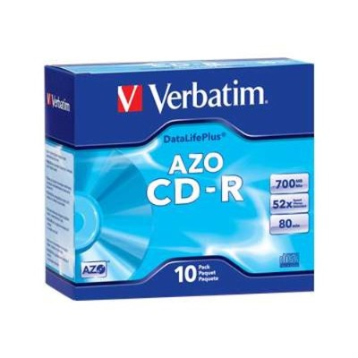 Verbatim 94760 10Pack CD-R 80 Min. 700MB 52X - Storage media
