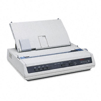 Oki 62422401 Microline 186 - Printer - monochrome - dot-matrix - 240 x 216 dpi - 9 pin - up to 375 char/sec - USB  serial