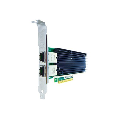 Axiom Memory 716591-B21-AX Network adapter - PCIe x8 - 10Gb Ethernet x 2 - for HPE ProLiant DL20 Gen9  DL560 Gen9  ML110 Gen9  ML30 Gen9  XL170r Gen9  XL190r Ge
