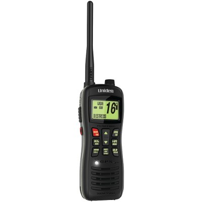 Uniden MHS235 Floating Handheld 2-Way Class D Marine Radio with Built-in GPS