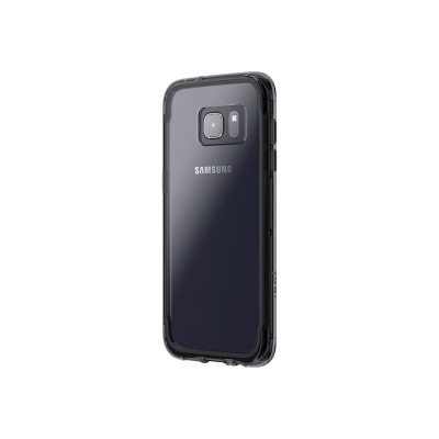 Griffin GB42361 Survivor Clear - Back cover for cell phone - polycarbonate  thermoplastic polyurethane - clear black - for Samsung Galaxy S7 edge
