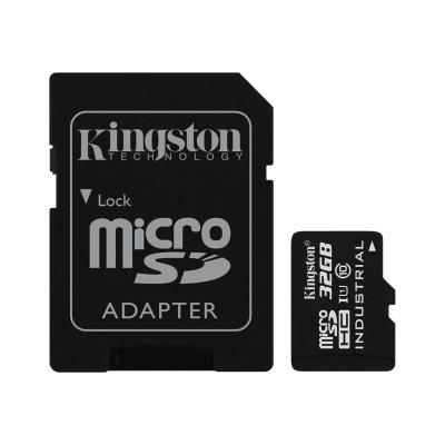 Kingston Digital SDCIT/32GB 32GB MICROSDHC UHS-I CLASS 10 INDUSTRIAL TEMP CARD + SD ADAPTER