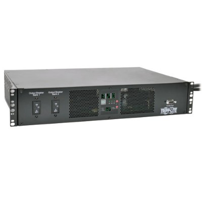 TrippLite PDUMH32HVAT TAA-Compliant 7.4kW Single-Phase ATS/Metered PDU  230V Outlets (16 C13 & 2 C19)  2 IEC309 32A Blue Cords  2U Rack-Mount