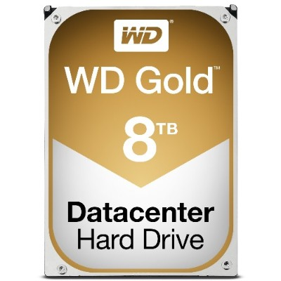 WD WD8002FRYZ Gold 8TB Datacenter Hard Disk Drive - 7200 RPM Class SATA 6 Gb/s 128MB Cache 3.5 Inch
