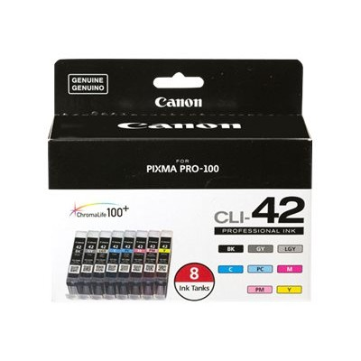 Canon 6384B007 CLI-42 Color Ink Value Pack - 8-pack - gray  yellow  cyan  magenta  light gray  photo black  photo cyan  photo magenta - original - ink