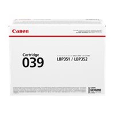 Canon 0287C001 039 - Black - original - toner cartridge - for imageCLASS LBP351dn  LBP351x  LBP352dn  LBP352x  i-SENSYS LBP351x  LBP352x  Satera LBP351i