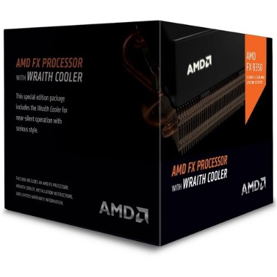 Advanced Micro Devices FD8350FRHKHBX 8-Core FX-8350 4.0GHz Socket AM3+ Black Edition Boxed Processor  with Wraith Cooler