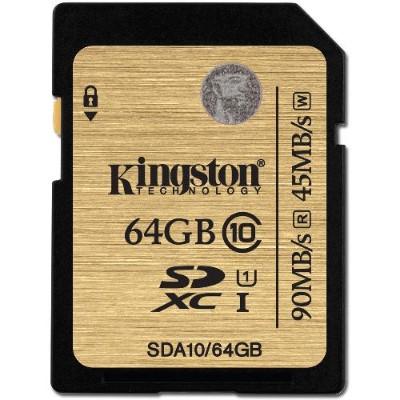 Kingston SDCAC/64GB 64GB microSDXC UHS-I U3 Action Card  90R/45W + SD Adapter