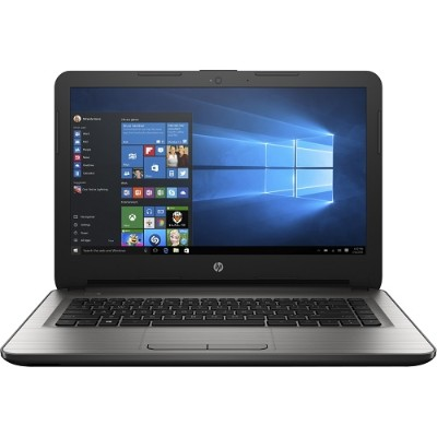 HP Inc. W2M51UA#ABA 14-an010nr - E2 7110 / 1.8 GHz - Win 10 Home 64-bit - 4 GB RAM - 32 GB eMMC - 14 1366 x 768 (HD) - Radeon R2 - textured linear grooves with