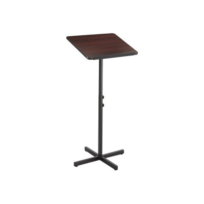 Safco Products Company 8921MH Adjustable Speaker Stand  Mahogany