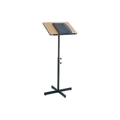 Safco Products Company 8921MO Adjustable Speaker Stand  Medium Oak