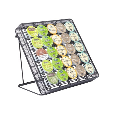 Safco Products Company 3276BL Onyx Stand-Up Hospitality Organizer  Mesh  Black