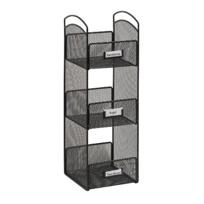 Safco Products Company 3290BL Onyx Tower Break Room Organizer - Black