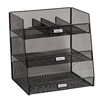 Safco Products Company 3293BL Onyx Break Room Organizer - Black