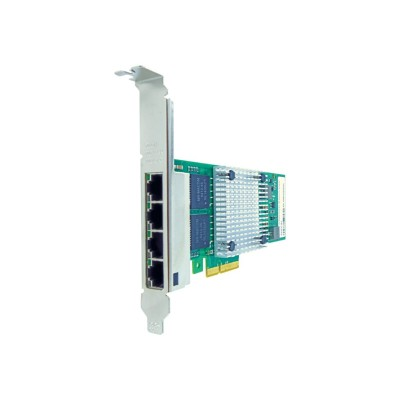 Axiom Memory 00AG520-AX Network adapter - PCIe 2.1 x4 - Gigabit Ethernet x 4 - for Lenovo System x3100 M5  x3250 M4  x3250 M6  x35XX M4  x3650 M4 HD  x3850 X6