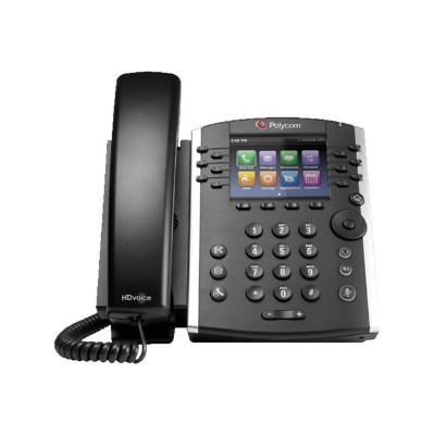 Polycom 2200-48450-019 VVX 411 - VoIP phone - SIP  RTCP  RTP  SRTP  SDP - 12 lines