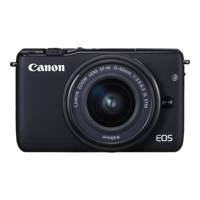 Canon 0584C031 EOS M10 - Digital camera - mirrorless - 18.0 MP - APS-C - 1080p / 30 fps - 3x optical zoom EF-M 15-45mm IS and 55-200mm lenses - Wi-Fi  NFC - bla