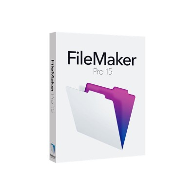 FileMaker HJVB2ZM/A Pro - (v. 15) - box pack (upgrade) - 1 user - upgrade from ver. 12 or later - GOV  corporate - Win  Mac - Multilingual