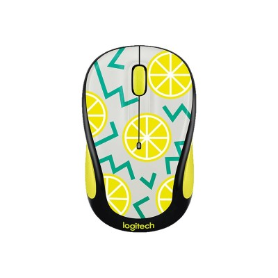 Logitech 910-004682 Party Collection M325c - Mouse - optical - 5 buttons - wireless - 2.4 GHz - USB wireless receiver - lemon
