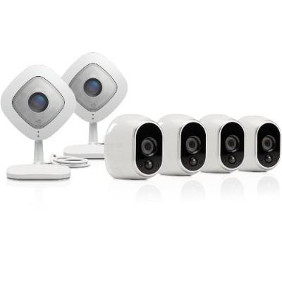 NetGear VMK3500-100NAS Arlo VMK3500 - Video server + camera(s) - wireless - 802.11n - 6 camera(s) - CMOS