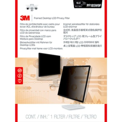 3M Corp PF185W9F Framed Privacy Filter for 18.5 Widescreen Monitor