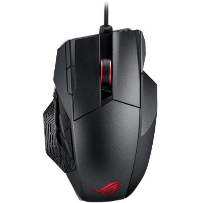 ASUS ROG SPATHA ROG Spatha - Mouse - laser - 12 buttons - wireless  wired - 2.4 GHz - USB wireless receiver - titanium black