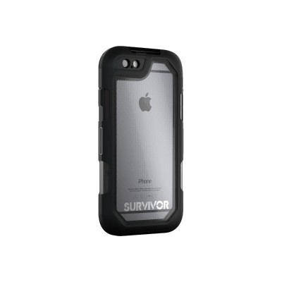 Griffin GB41552 Survivor Summit - Protective case for cell phone - rugged - silicone  polycarbonate  TPE - black  clear - for Apple iPhone 6