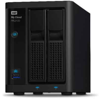 WD WDBBCL0000NBK-NESN 0TB My Cloud PR2100 Pro Series Diskless Media Server with Transcoding  NAS - Network Attached Storage