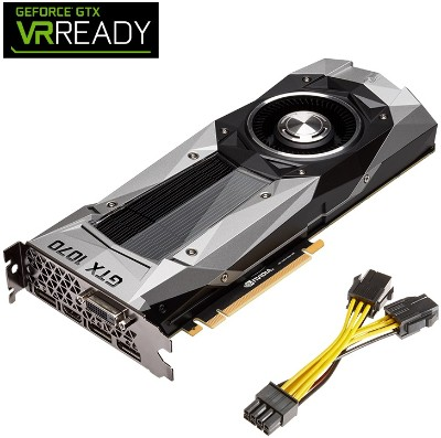 PNY VCGGTX10708PB-CG NVIDIA GeForce GTX 1070 Founders Edition 8GB GDDR5 Graphics Card