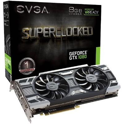Evga 08G-P4-6183-KR NVIDIA GeForce GTX 1080 SC GAMING ACX 3.0 8192 MB  256 bit GDDR5X