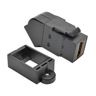 TrippLite P164-000-KPA-BK HDMI All-in-One Keystone/Panel Mount Angled Coupler (F/F)  Black