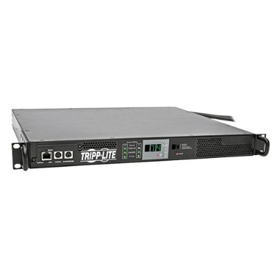 TrippLite PDUMNH32HVAT 7.4kW Single-Phase 230V ATS/Monitored PDU  IEC309 32A Blue Outlet  2 IEC309 32A Blue Inputs  1U Rack-Mount
