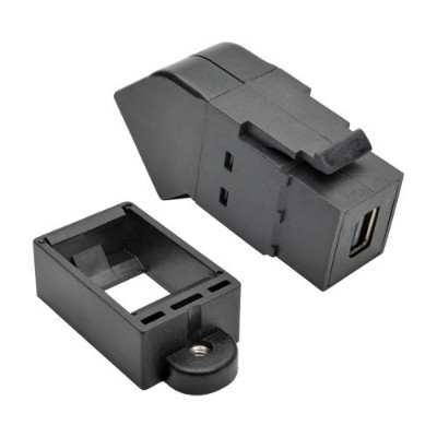 TrippLite P169-000-KPA-BK Mini DPort to DisplayPort Keystone Panel Mount Coupler Angled FF